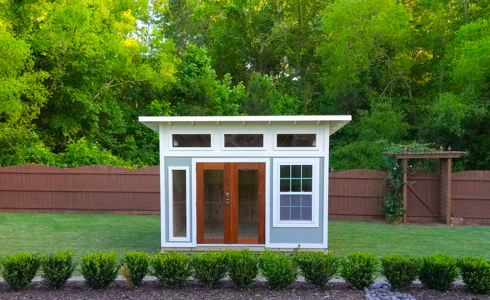 She shed or tiny home made in one day