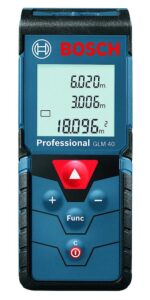 A laser distance meter that measures long distances with laser beam